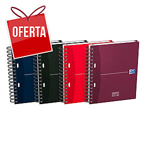 Caderno espiral 100 folhas A5,microperfurado,quadricula 5mm,90gm/2 OXFORD Office