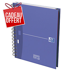 CAHIER OXFORD OFFICE EUROPEAN BOOK A5+ 200 PAGES 5 X 5 CARTE RIGIDE SPIRAL