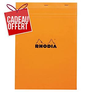 Bloc-notes Rhodia - A4 - 160 pages - blanc quadrillé