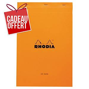 Bloc-notes Rhodia - A4+ - 160 pages - blanc uni