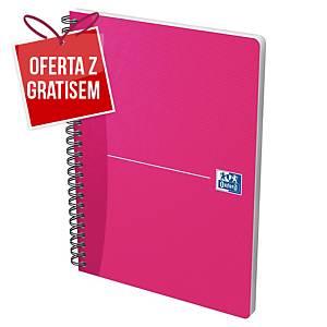 Kołonotatnik Oxford Essentials, A5, kratka, 90 kartek, miękka okładka