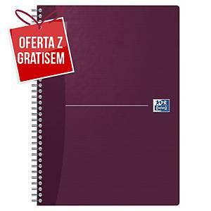 Kołonotatnik Oxford Essentials, A4, kratka, 90 kartek, margines