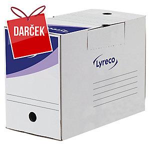Prenosná archivačná krabica 20 cm Lyreco biela, balenie 25 kusov
