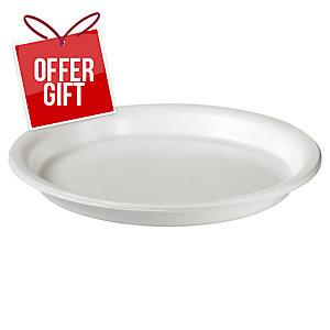 Duni White Plastic Plates - Box Of 50