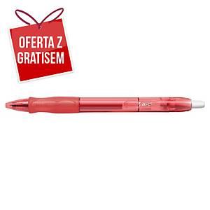 Automatyczny długopis żelowy BIC Gelocity, czerwony