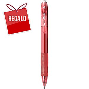 Bolígrafo retráctil de gel Bic Gelocity - rojo