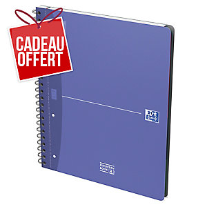 CAHIER OXFORD OFFICE EUROPEAN BOOK A4+ 240 PAGES 5X5 POLYPROPYLENE SOUPLE SPIRAL