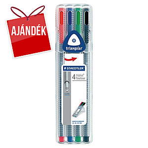Staedtler 334 Triplus tűfilc, 0,3 mm, 4 szín/csomag
