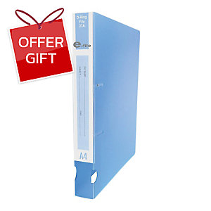 E-FILE 37A 2-D-RING BINDER FOLDER A4 1.5   BLUE