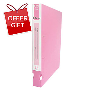 E-FILE 37A 2-D-RING BINDER FOLDER A4 1.5   PINK