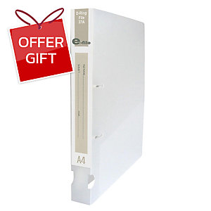 E-FILE 37A 2-D-RING BINDER FOLDER A4 1.5   WHITE