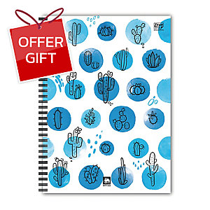 ELEPHANT WPPB-444 WIREBOUND PP NOTEBOOK BLUE COVER B5 70G 60 SHEETS