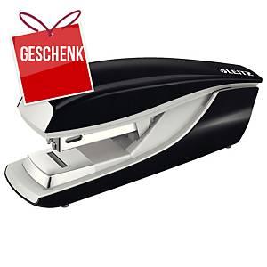 Heftapparat Leitz 5505 Flat Clinch, Heftkapazität 30 Blatt, schwarz