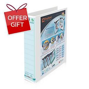 ELEPHANT 9250V 2 D-Ring Clear Binder Folder A4 White