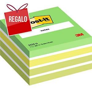 Cubo de 450 notas adhesivas Post-it - verde pastel - 76 x 76 mm