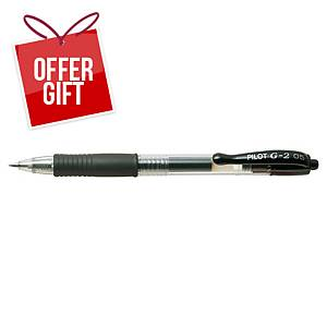 PILOT G2 RETRACTABLE GEL PEN 0.5MM BLACK
