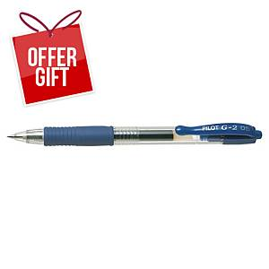PILOT G2 RETRACTABLE GEL PEN 0.5MM BLUE