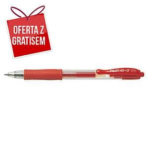 Automatyczny długopis żelowy PILOT G-2, czerwony