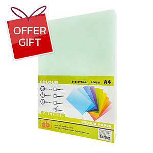 SB Coloured A4 Copy Paper 80G Light Green Ream of 500 Sheets