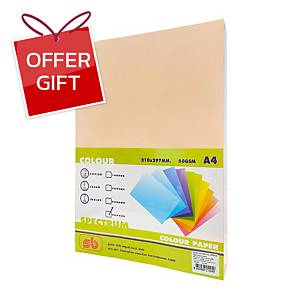 SB Coloured A4 Copy Paper 80G Orange Ream of 500 Sheets