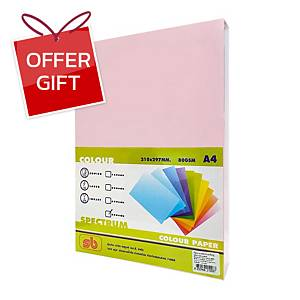 SB Coloured A4 Copy Paper 80G Pink Ream of 500 Sheets