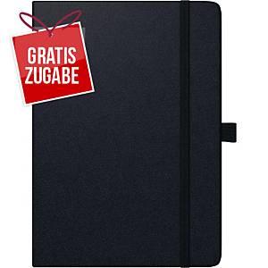Buchkalender 2021 Brunnen 79166 Kompagnon, 1 Woche / 2 Seiten, A5, schwarz