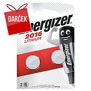 Batérie Energizer CR 2016 lítiová 3 V, 2 kusy v balení