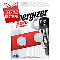Baterie specjalistyczne litowe ENERGIZER® CR2016 3V, w opakowaniu 2 sztuki