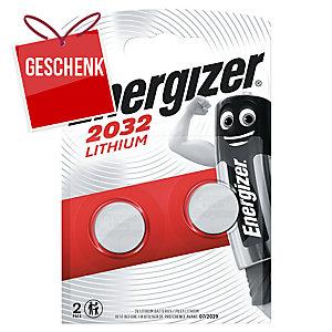 Batterie Energizer 624835, Knopfzelle, CR2032, 3 Volt, Lithium, 2 Stück