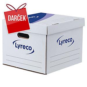 Archivačná úložná krabice Lyreco 28 x 35 x 35 cm biela, balenie 10 kusov