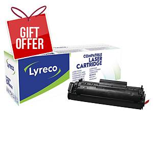 Lyreco Hp Q2612A Compatible Laser Cartridge - Black