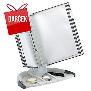 Stolový stojan s 10 panelmi T-display Office sivý