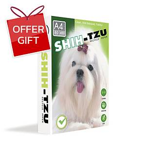 SHIH-TZU COPY PAPER A4 80G WHITE 450 SHEETS/REAM - 5 REAMS/BOX