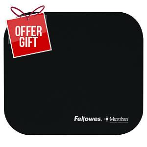 Fellowes 5933907 Mouse Pad With Microban - Black