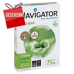 Kopierpapier Navigator Eco-logical A4, 75 g/m2, weiss, Pack à 500 Blatt