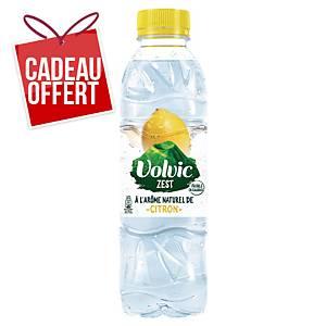 Eau Volvic citron 50 cl - plateau de 24 bouteilles