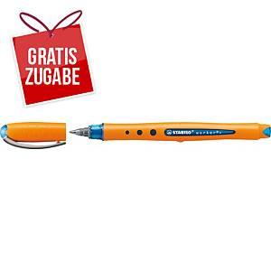 Tintenroller STABILO worker+ medium, Strichstärke: 0,5mm, blau