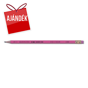 Koh-i-noor ceruzák, HB, radírral, 12 db/csomag
