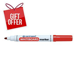 CENTROPEN WHITE BOARD MARKER B/TIP RED