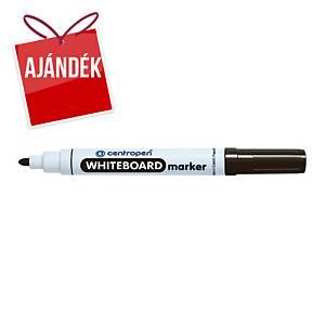 Centropen 8559 marker fehértáblához, gömbölyű hegy, fekete