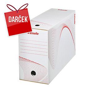 Archivačne krabice 15 cm Esselte biele, balenie 25 kusov
