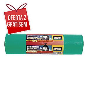 Worki na śmieci LDPE biodegradowalne 120 l, zielone, 10 sztuk