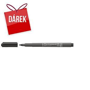 Popisovač OHP ICO, permanentní, průměr hrotu: 1-1,5 mm, černý