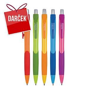 Guľôčkové pero Spoko 0111, klikacie, farba náplne: modrá