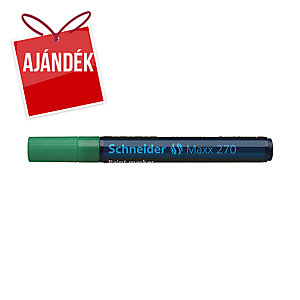 Schneider 270 lakkmarker, gömbölyű hegy, zöld