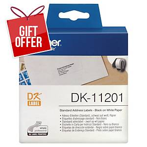 Brother Dk11201 Address Labels 29 X 90 Mm - Box Of 400