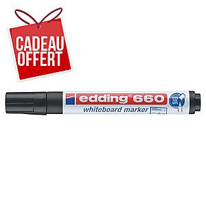 Marqueur Edding 660 - effaçable à sec - pointe ogive moyenne - noir