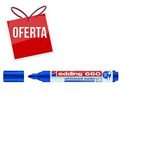Marcador apagável Edding 660 - ponta cónica 1,5-3 mm - azul