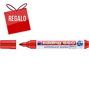 Marcador para pizarra blanca EDDING 660 color rojo