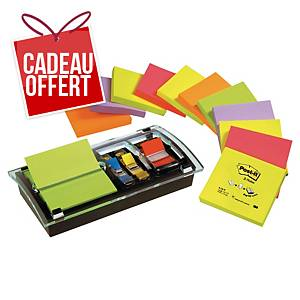 Z-Notes Post-it - 76 x 76 mm - assortis - 12 blocs + dévidoir Millenium
